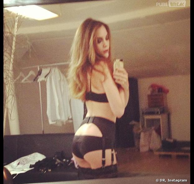 Solweig Rediger-Lizlow ambassadrice sexy pour la marque de lingerie Blackitten