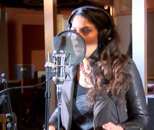 Zaho enregistre l'hymne handisport