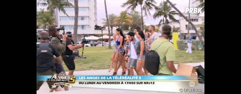les anges de la t l r alit 5 tournage du clip de leur hymne ocean drive avenue. Black Bedroom Furniture Sets. Home Design Ideas