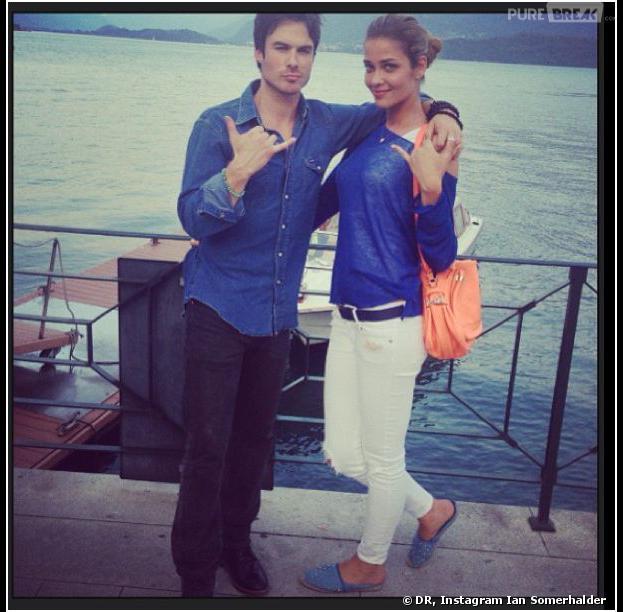 Ian Somerhalder et Ana Beatriz Barros, le 8 juillet 2013 sur Instagram