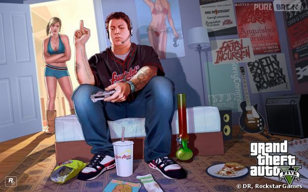 Un fond d'écran de GTA 5 avec le personnage de Jimmy