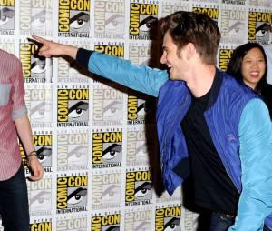 Andrew Garfield et Dane DeHaan au Comic Con 2013 pour le panel consacré à The Amazing Spider-Man 2