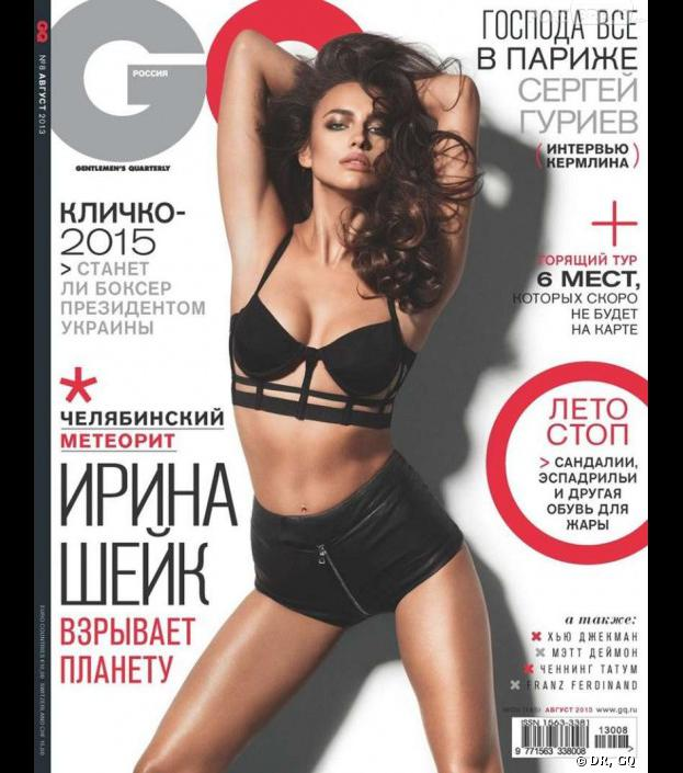 Irina Shayk en Une du GQ russe