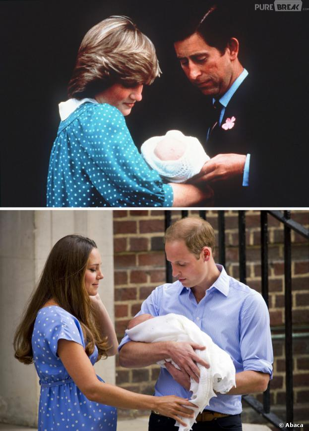 Kate Middleton en 2013 et Diana en 1982 : des sorties de maternité similaires ?