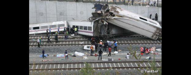 Espagne : déraillement d'un train à Saint-Jacques de Compostelle