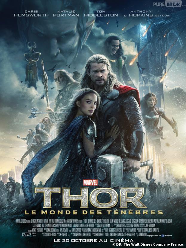 Nouveau poster de Thor 2 avec Chris Hemsworth, Natalie Portman, Tom Hiddleston et Anthony Hopkins