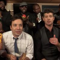 Robin Thicke et Jimmy Fallon : Blurred Lines la reprise géniale version cour de recré