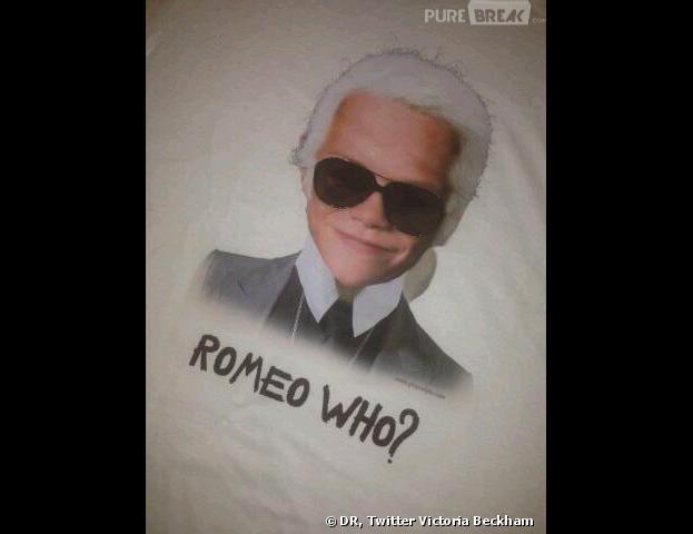 Victoria Beckham : son fils Romeo en mode Karl Lagerfeld