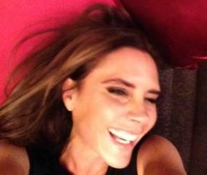 Victoria Beckham tout sourire sur le Facebook de son mari David