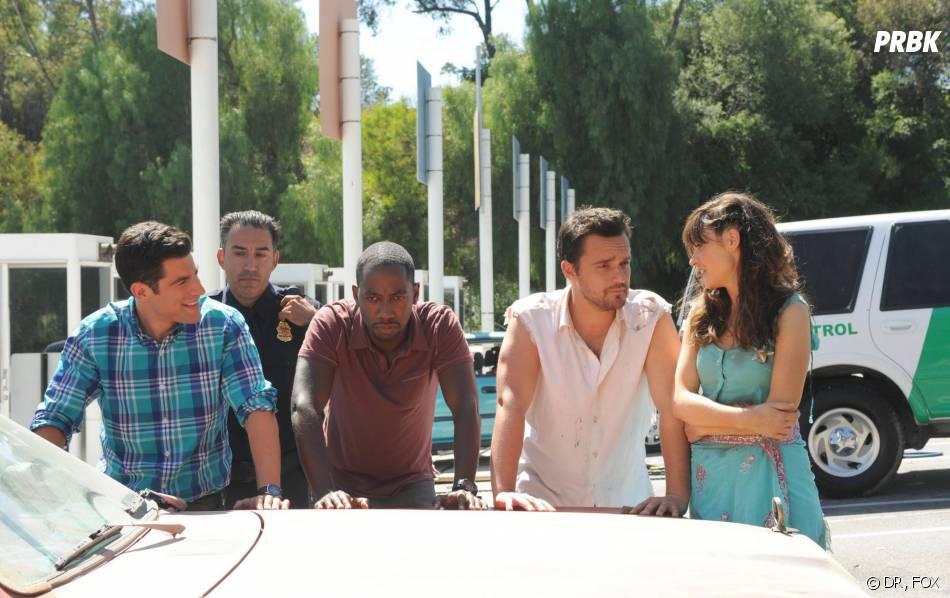 New Girl saison 3, épisode 1 : Schmidt, Winston, Jess et Nick arrêtés