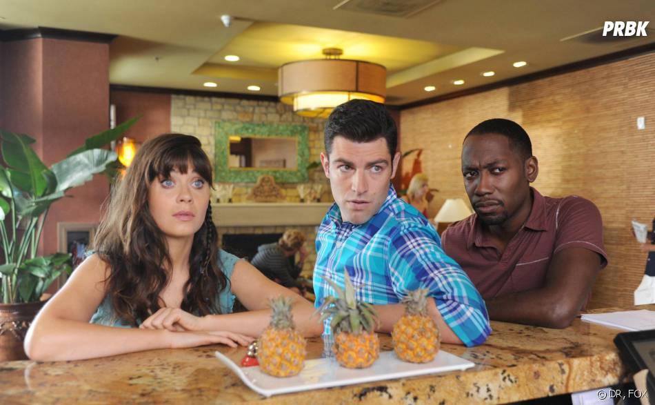 New Girl saison 3, épisode 1 : Zooey Deschanel, Max Greenfield et Lamorne Morris
