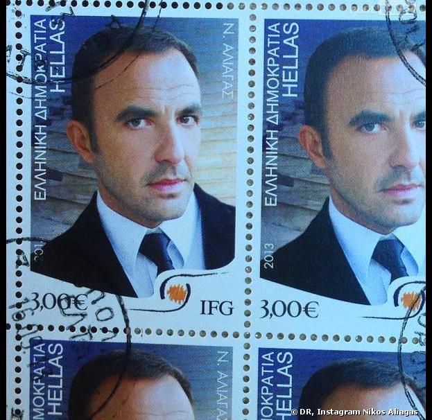 Nikos se fait timbrer en Grèce
