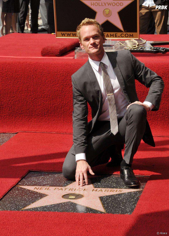 """Neil Patrick Harris sur le """"Walk of Fame"""", le 15 septembre 2011 à Hollywood"""