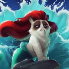Grumpy Cat dans les Disney : La Grincheuse et la Bête !