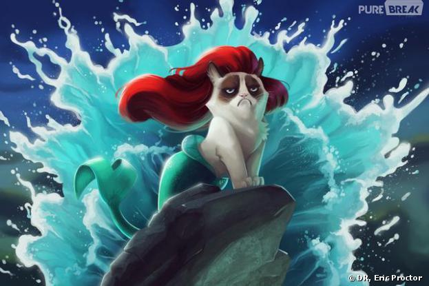 Grumpy Cat en Petite Sirène selon Eric Proctor