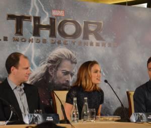 L'équipe de Thor 2 à la conférence de presse du film le 24 octobre 2013 à Paris