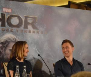 Natalie Portman et Tom Hiddleston à la conférence de presse de Thor 2 le jeudi 24 octobre à Paris