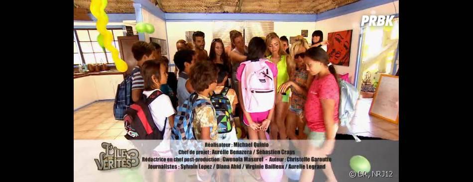 L'île des vérités 3 : les habitants passent la journée avec des enfants