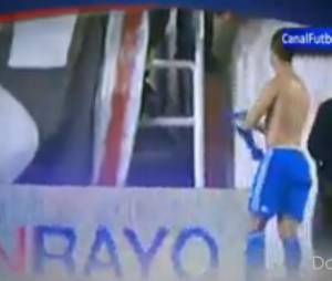 Cristiano Ronaldo offre son maillot à une jeune fille touchée par un de ses tirs