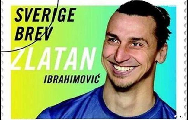 Zlatan Ibrahimovic a sa tête sur un timbre en Suède