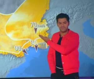 Jamel Debbouze : Miss météo sur iTélé dans l'émission de Bruce Toussaint