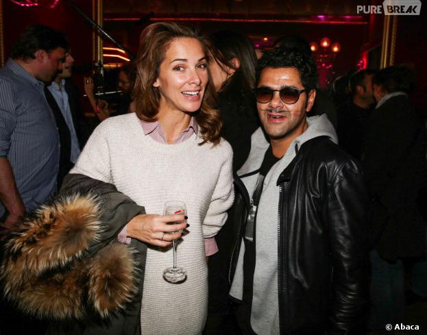 Jamel Debbouze et Mélissa Theuriau en amoureux pour le Prix Fooding 2014 au Cirque d'hiver, le 25 novembre 2013