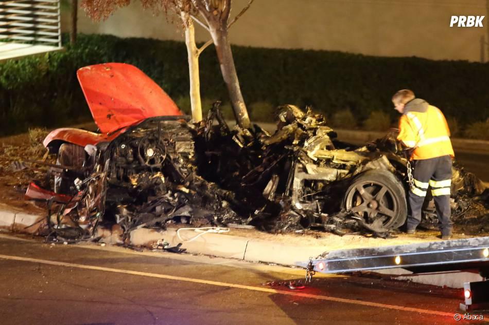 Les photos de l'accident de voiture de l'acteur Paul Walker, mort le 30 novembre 2013, attestent de la violence du crash