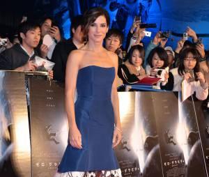 Sandra Bullock à Tokyo en décembre 2013, arrive en troisième position du plus beau corps parmi les stars