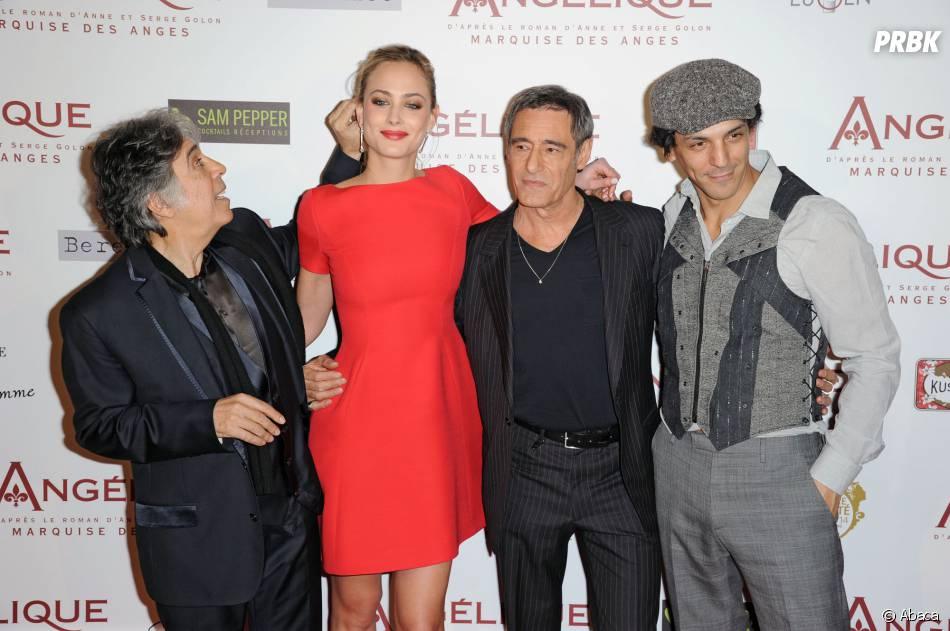 Ariel Zeitoun, Nora Arnezeder, Gérard Lanvin et Tomer Sisleyà l'avant-première d'Angélique, le 16 décembre 2013 à Paris