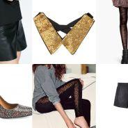 Nouvel An 2014 : paillettes, cuir et petite robe noire... nos idées look