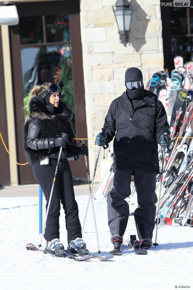 Kim Kardashian et Kanye West : en vacances au ski à Summit Park (USA), le 30 décembre 2013