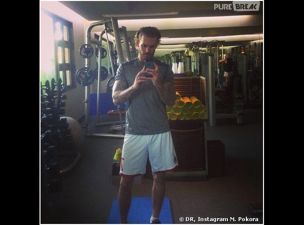 M. Pokora : muscu pendant ses vacances, en janvier 2014