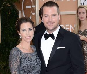 Golden Globes 2014 : Chris O'Donnell et son épouse sur le tapis-rouge le 12 janvier 2014 à Los Angeles