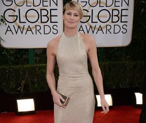 Golden Globes 2014 : Robin Wright sur le tapis-rouge le 12 janvier 2014 à Los Angeles
