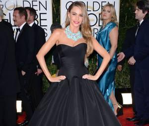 Golden Globes 2014 : Sofia Vergara sur le tapis-rouge le 12 janvier 2014 à Los Angeles