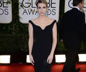 Golden Globes 2014 : Emma Roberts sur le tapis-rouge le 12 janvier 2014 à Los Angeles