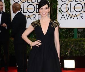 Golden Globes 2014 : Julianna Margulies sur le tapis-rouge le 12 janvier 2014 à Los Angeles