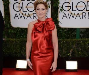 Golden Globes 2014 : Edie Falco sur le tapis-rouge le 12 janvier 2014 à Los Angeles