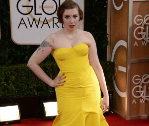 Golden Globes 2014 : Lena Dunham sur le tapis-rouge le 12 janvier 2014 à Los Angeles
