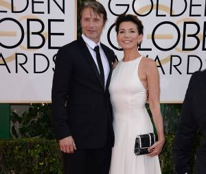 Golden Globes 2014 : Mads Mikkelsen sur le tapis-rouge le 12 janvier 2014 à Los Angeles