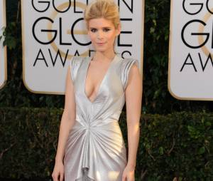 Golden Globes 2014 : Kate Mara sur le tapis-rouge le 12 janvier 2014 à Los Angeles