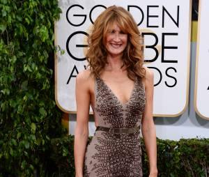 Golden Globes 2014 : Laura Dern sur le tapis-rouge le 12 janvier 2014 à Los Angeles
