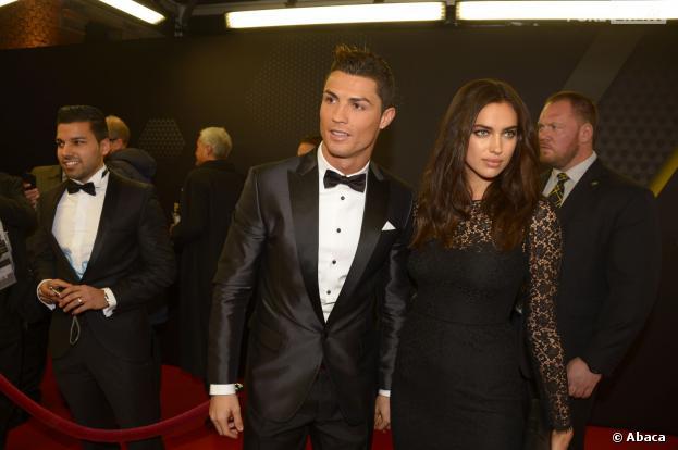 Cristiano Ronaldo et Irina Shayk à la cérémonie du Ballon d'or 2013, le 13 janvier 2014 à Zurich