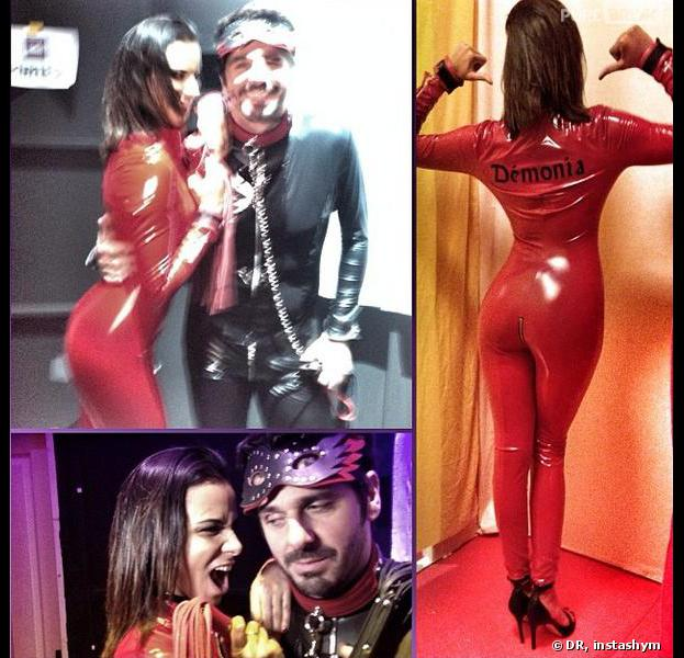 Shy'm sexy en costume rouge pour Les Enfoirés 2014