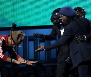 Grammy Awards 2014 : Pharrell et Daft Punk gagnants lors de la cérémonie qui s'est déroulée le 26 janvier 2014 à Los Angeles