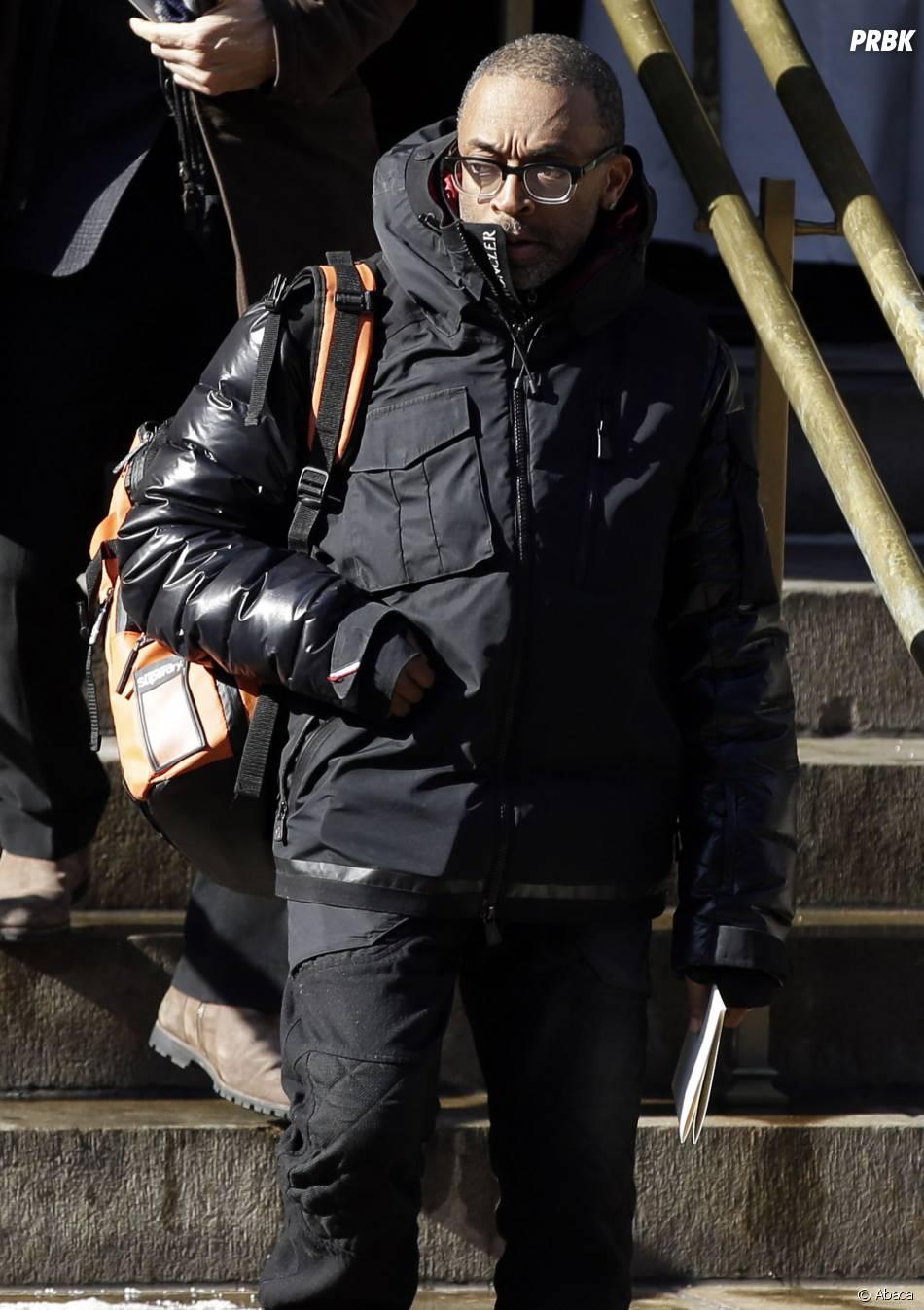 Spike Lee à l'enterrement de Philip Seymour Hoffman, le 7 février 2014 à New-York
