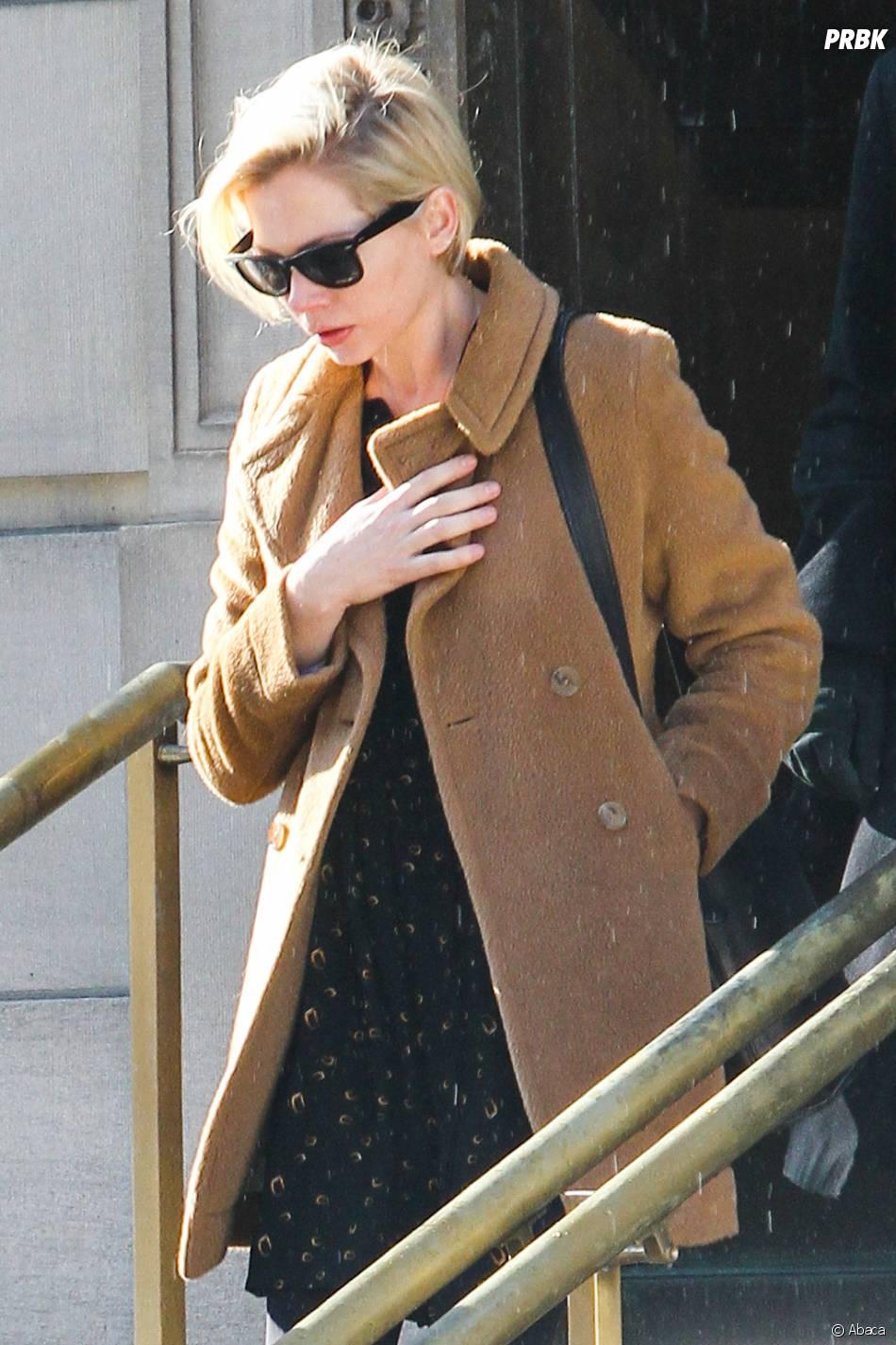 Michelle Williams à l'enterrement de Philip Seymour Hoffman, le 7 février 2014 à New-York