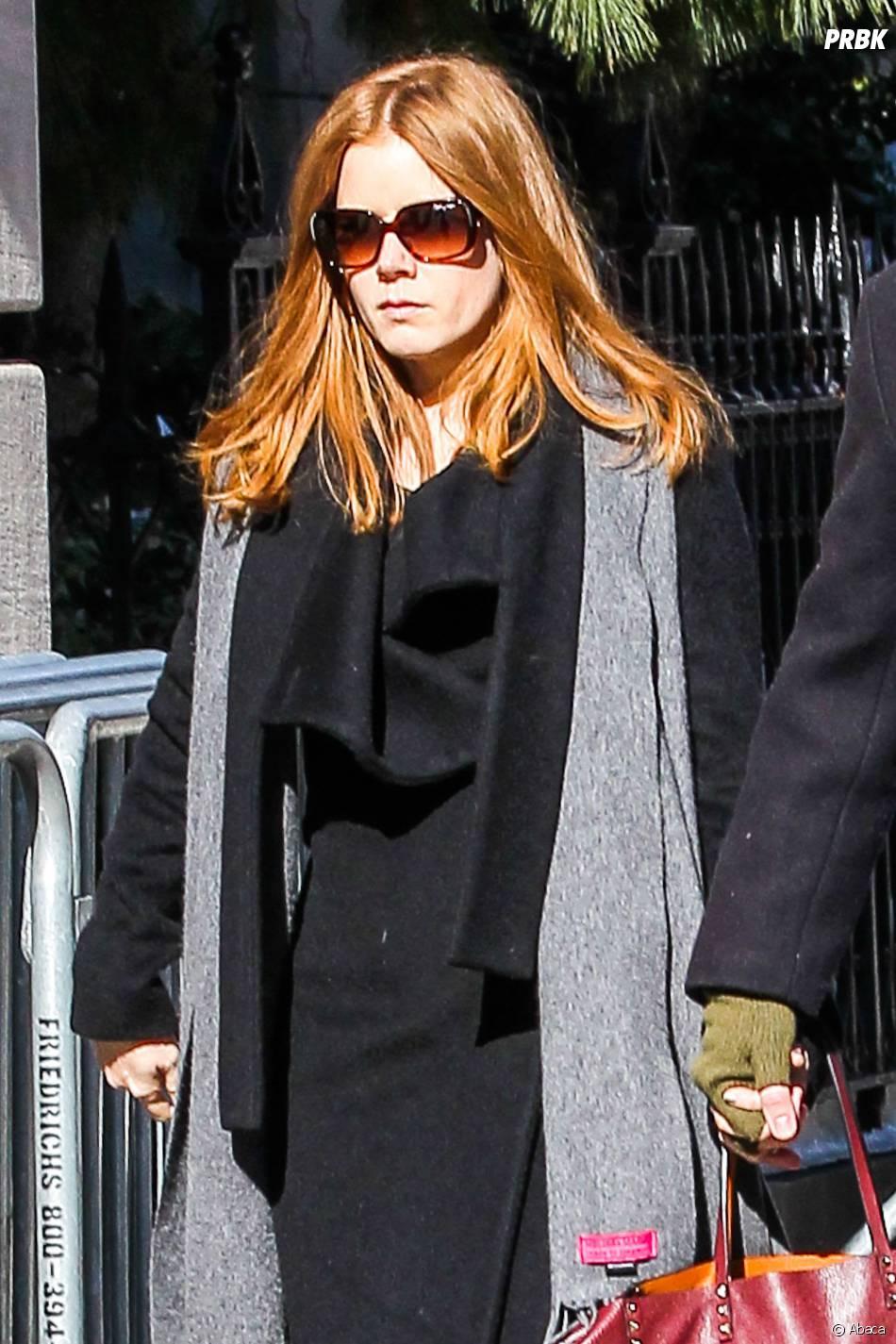 Amy Adams à l'enterrement de Philip Seymour Hoffman, le 7 février 2014 à New-York