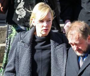 Cate Blanchett à l'enterrement de Philip Seymour Hoffman, le 7 février 2014 à New-York