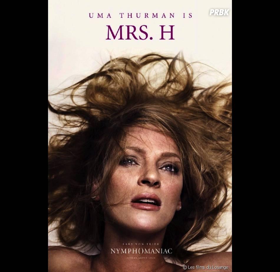 Nymphomaniac : l'affiche avec Uma Thurman